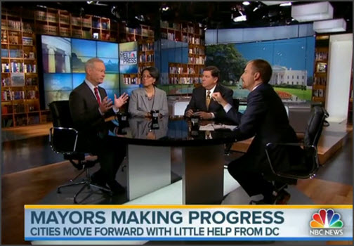 U.S. Mayors Appear on Meet The Press 9/7/14