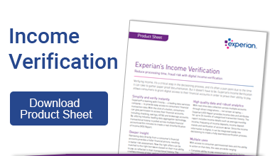 Income Verification Product Sheet