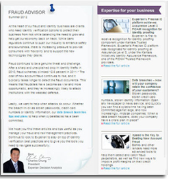 Fraud Advisor Newsletter