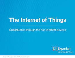 The Internet of Things- Opportunities through the rise of smart devices