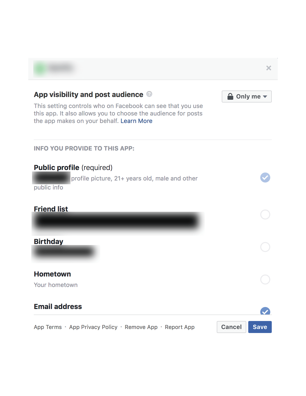 Facebook also shows you the details of what happens if you turn this  setting off: