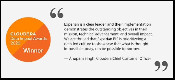 Cloudera 2020 Data Impact Award Winner