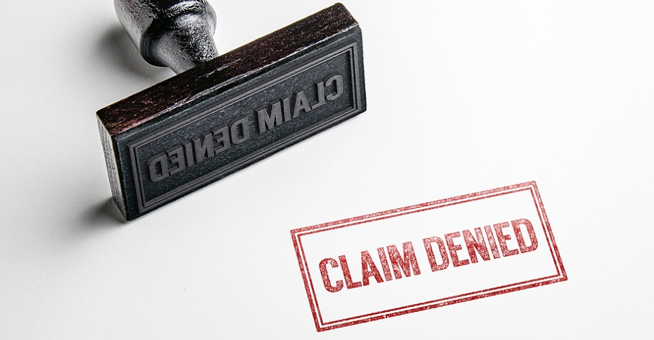 Claim Denied Stamp