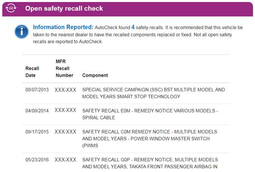 AutoCheck Open Safety Recall2