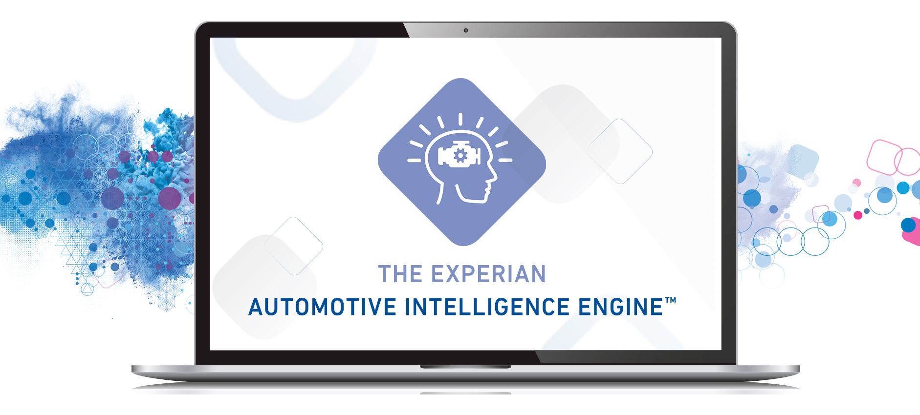 Computer with Automotive intelligence engine logo on screen