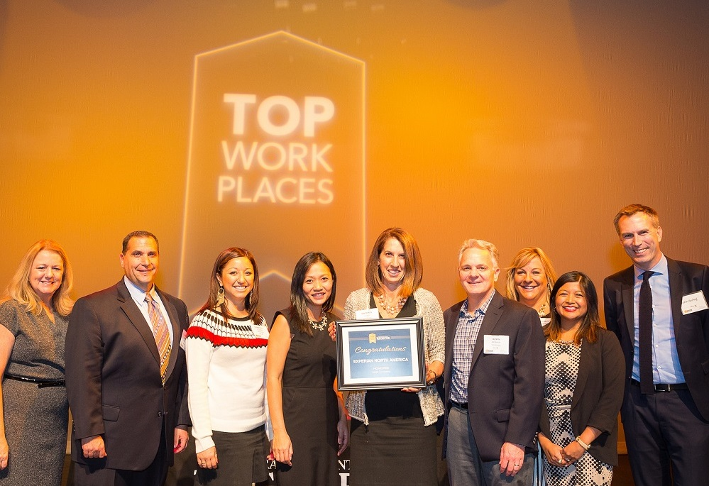 Experian Is Honored To Be Among A Select Group Of Companies Recognized By The Orange County Register As Best Places Work In