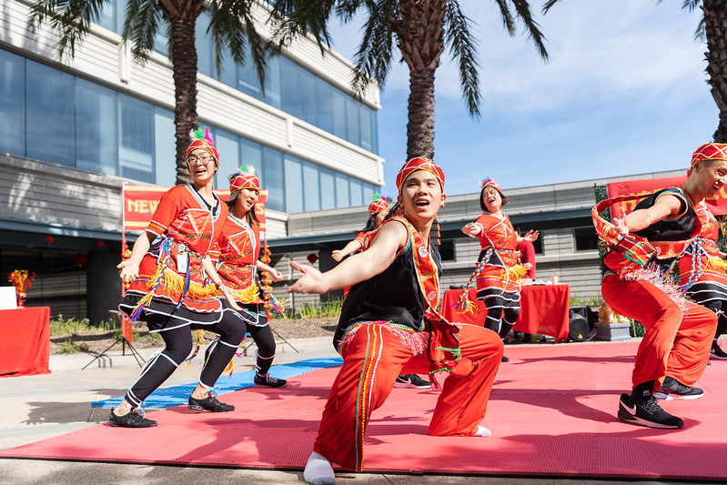 Dancers perform Taiwanese aboriginal dance