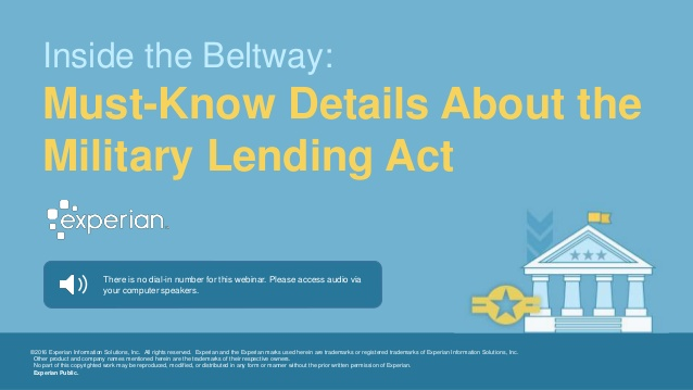 Must Know Details About the Military Lending Act