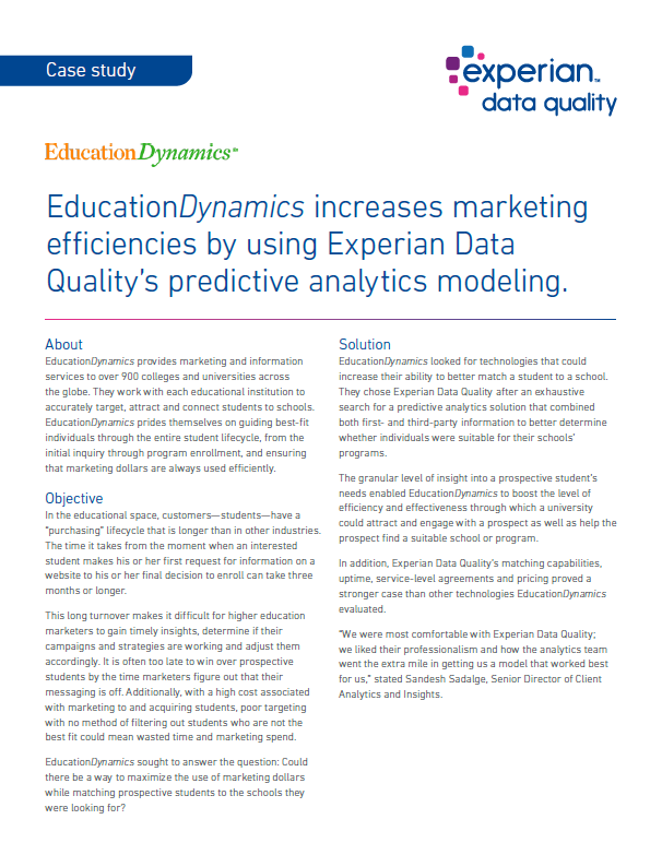 EducationDynamics improves marketing with data enrichment