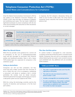 Debt Recovery Solutions >> Telephone Consumer Protection Act: Latest News and Considerations